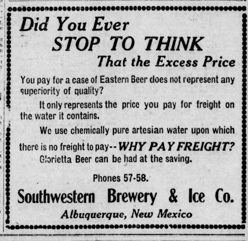 Albuquerque Pre-Prohibition Breweries – Brewery Collectibles Club of